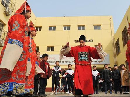 河北滄州:戲曲進校園 傳承在身邊