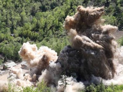 朝鲜完成丰溪里核试验场拆除工作